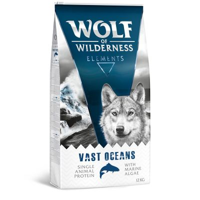 12 kg secco + 6 x 400 g umido gratis! Wolf of Wilderness NUOVE varianti
