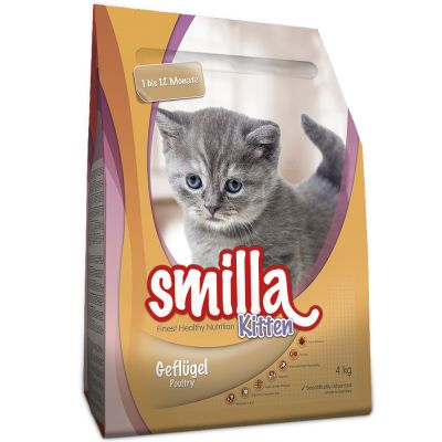 4kg Smilla Dry Cat Food + 125g Smilla Hearties Cat Snacks Free!*