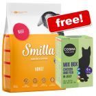 4kg Smilla Dry Cat Food + 6 x 100g Cosma Original in Jelly Pouches Free!*