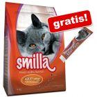 4 kg Smilla + Smilla Pastă Malț anti-hairball cadou!