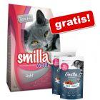 10 kg Smilla + Smilla Soft Sticks, păstrăv și merișoare, 2 x 50 g gratis!