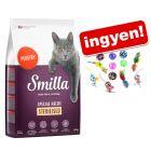 10 kg Smilla száraztáp + Macskajátékszett ingyen!