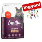 10 kg Smilla száraztáp + 12 részes macskajátékszett ingyen!