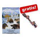 12,2 kg Taste of the Wild Canine + Trixie corda gioco colorata gratis!