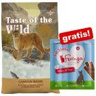 6,6 kg Taste of the Wild + Feringa Sticks Lax & öring 18 g på köpet!