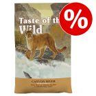 2 / 6,6 kg Taste of the Wild kattfoder till sparpris!