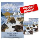 12, 2 kg Taste of the Wild -kuivaruokaa + 2 x 390 g märkäruokaa kaupan päälle!