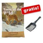 2 kg Taste of the Wild + Lopățică pentru așternutul pisicii gratis!