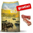 5,8 / 6 kg Taste of the Wild + Lukullus Oase fine 2 x 10 cm (120 g) rață gratis!
