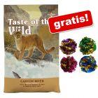 2 kg Taste of the Wild + 4 Mingi foșnitoare pentru pisici gratis!
