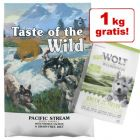 12,2 kg Taste of the Wild Puppy + 1 kg Wolf of Wilderness Junior på köpet!