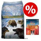 12,2 kg Taste Of The Wild + Rocco Chings Originals, filet z kurczaka w paskach, 250 g 50% taniej!