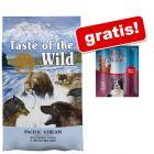 12,2 kg Taste of the Wild + Rocco Sticks gratis!