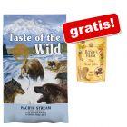 "12,2 kg Taste of the Wild + Rosie's Farm Snacks ""Mini Steak Bites"" gratis!"