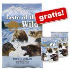 12, 2 kg Taste of the Wild tørrfòr + 2 x 390 g våtfòr gratis!