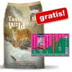 6,6 kg Taste of the Wild + Vitakraft Cat Stick Classic, 6 x 6 g gratis!
