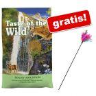 6,6 kg Taste of the Wild + Wędka dla kota z kolorowymi piórkami gratis!