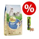 2 kg Vilmie Premium patkányeledel + Cosma snackies