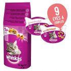 14 kg Whiskas száraztáp + 2 macskasnack ingyen!