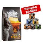 6 kg Wild Freedom -kuivaruokaa + 6 x 200 g märkäruokaa kaupan päälle!