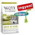 12 kg Wolf of Wilderness + California kutyajáték ingyen!