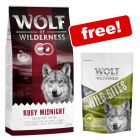 12kg Wolf of Wilderness Dry Dog Food + 180g Green Fields Wild Bites Free!*