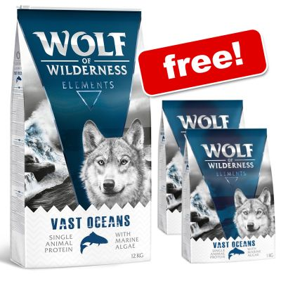 12kg Wolf of Wilderness Dry Dog Food + 2kg Extra Free!*