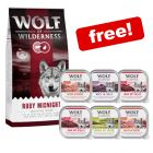 12kg Wolf of Wilderness Dry Dog Food + 6 x 300g Classic Mixed Pack Free!*