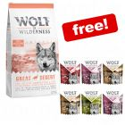 """12kg Wolf of Wilderness Dry Dog Food + 6 x 300g  """"Soft"""" Mixed Pack Free!*"""