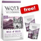 12kg Wolf of Wilderness Dry Dog Food + 2 x 180g Wild Bites Duck Free!*