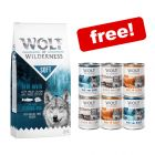 12kg Wolf of Wilderness Dry Food + 6 x 400g Mixed Pack Wet Food Free!*