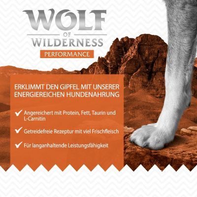 1 kg Wolf of Wilderness - Performance/ Mobility/ Weight Management