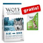 12 kg Wolf of Wilderness suhe hrane + Concept for Life Insect Snack gratis!