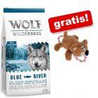 12 kg Wolf of Wilderness suhe hrane + igrača za pse Medved z vrvjo gratis!