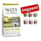 12 kg Wolf of Wilderness száraztáp + 6 x 300 g WoW Soft & Strong ingyen!