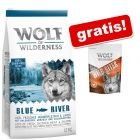 12 kg Wolf of Wilderness + Wolf of Wilderness Snack - Wild Bites gratis!