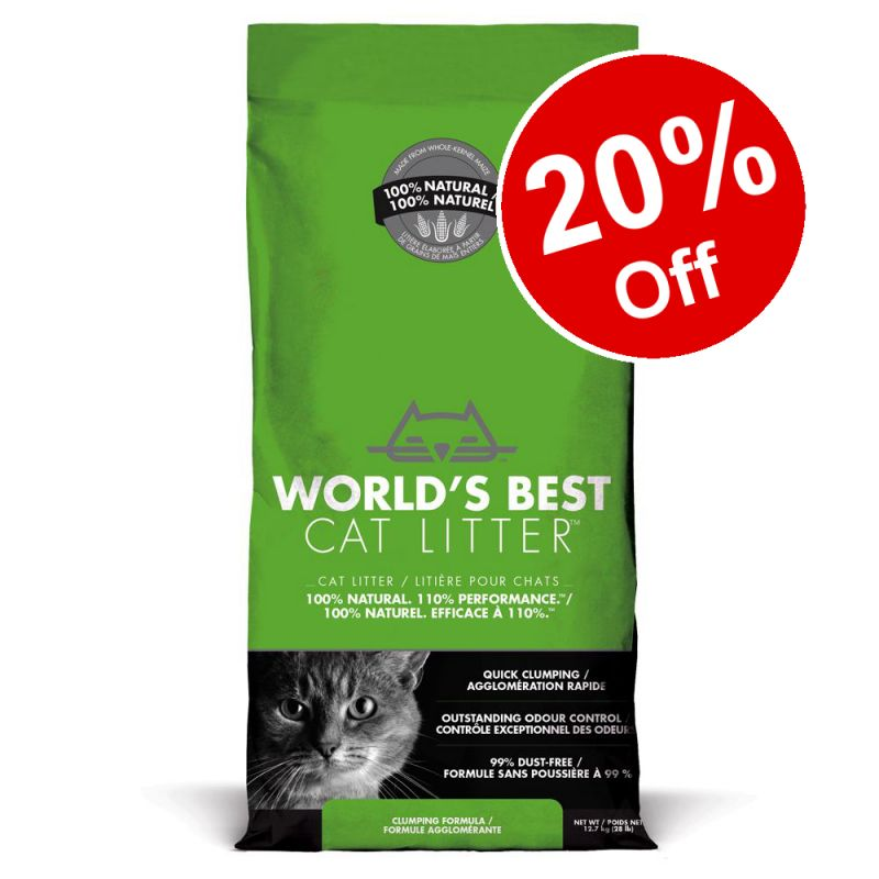 12.7kg World's Best Cat Litter - 20% Off!*