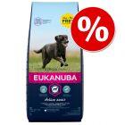 15 + 3 kg zdarma! 18 kg Eukanuba Adult a Puppy pre veľké a stredné rasy
