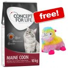 9kg/10kg Concept for Life Dry Cat Food + Aumüller Angie Alpaca Toy Free!*