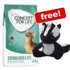 9kg/10kg Concept for Life Dry Cat Food + Aumüller Sam Skunk Cat Toy Free!*