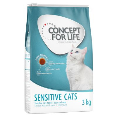 9kg/10kg Concept for Life Dry Cat Food + 3kg Extra Free!*