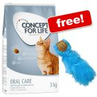 9kg/10kg Concept for Life Dry Cat Food + KONG Cork Ball Cat Toy Free!*