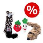 Kissan lelupaketti: lelufretti + kissanminttukasvikset + Kong Kickeroo