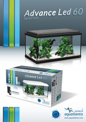 Kit d'aquarium Aquatlantis Advance LED 60