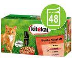Kitekat Maaltijdzakjes Kattenvoer 48 x 100 g