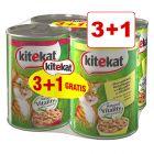 Kitekat-kissanruoka 4 x 400 g: 3 + 1 kaupan päälle!