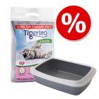 Kitten Starter Set: Tigerino Canada Katzenstreu + Savic Katzentoilette