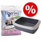 Kitten Starter Set: Tigerino Canada Nisip pentru pisici + Savic Toaletă pentru pisici