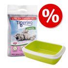 Kitten-ensipakkaus: Tigerino Canada -kissanhiekka + Savic-hiekkalaatikko
