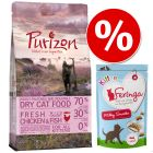 Kitten-kokeilupakkaus: Purizon 400 g + Feringa Kitten Milky Snacks 30 g